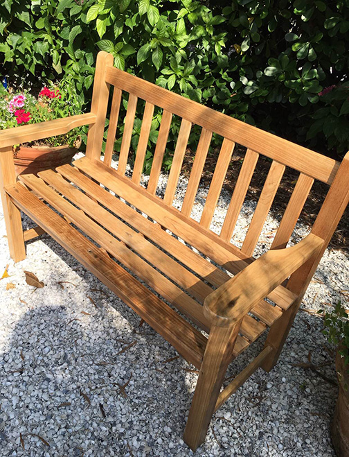 bench after - Garden Furniture Stain